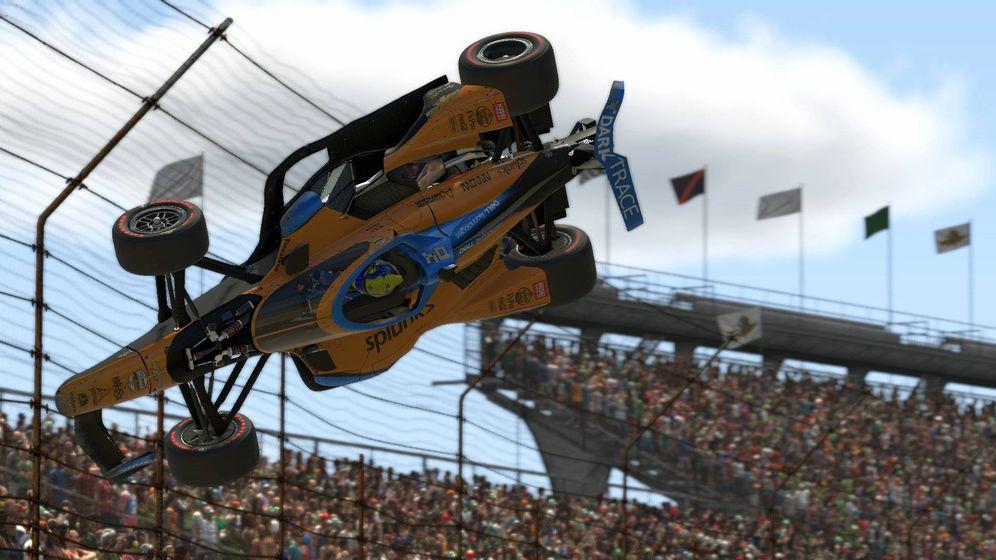 Foto: Así salió volando Lando Norris en Indianápolis por el choque con Simon Pagenaud. (McLaren)