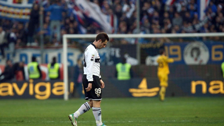 Foto: El delantero italiano no se arrepiente de dejar el Parma, pero dice que echa de menos la pelota (Efe)