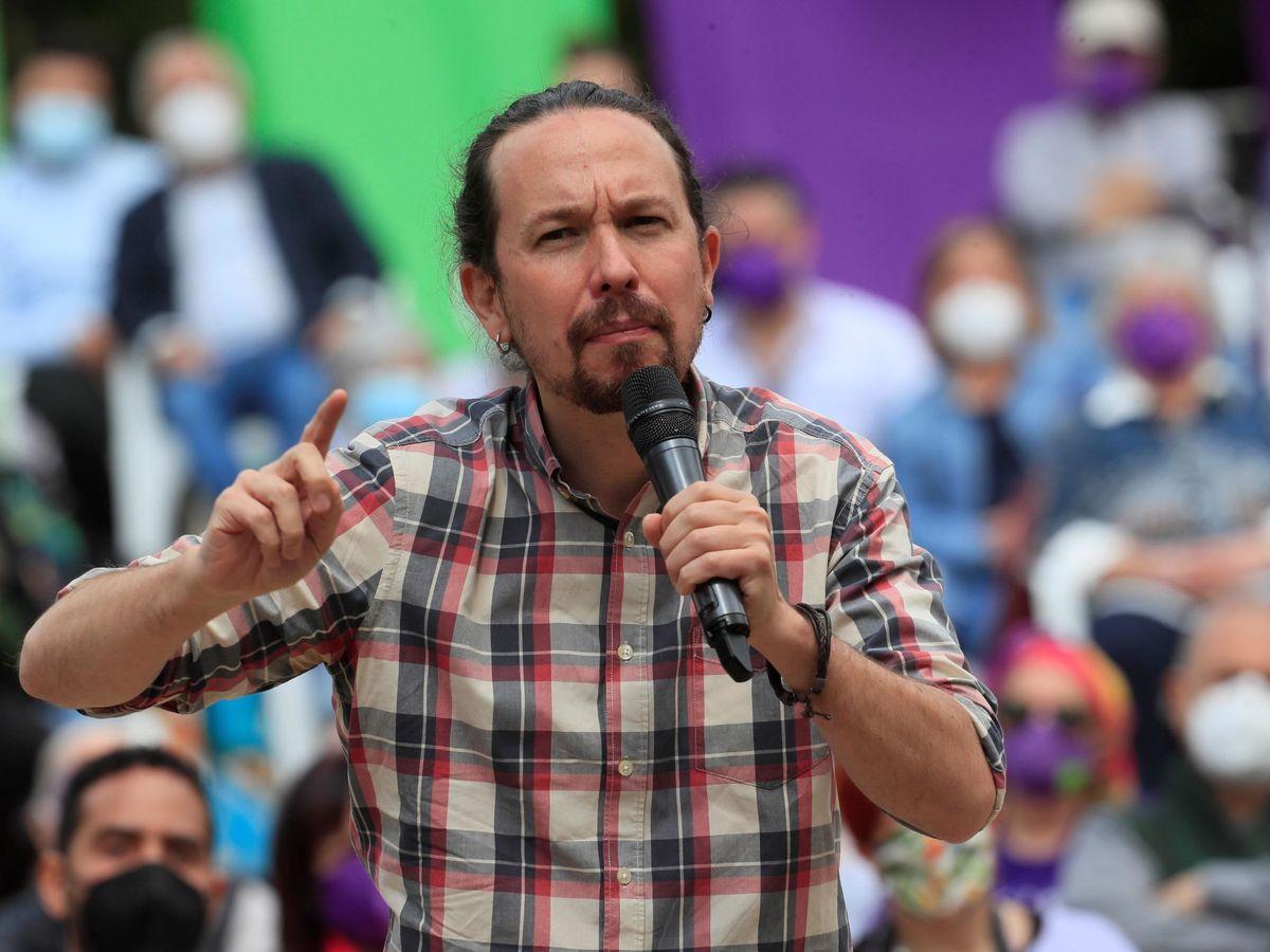 Foto: El candidato a la presidencia a la Comunidad de Madrid por Unidas Podemos, Pablo Iglesias. (EFE)