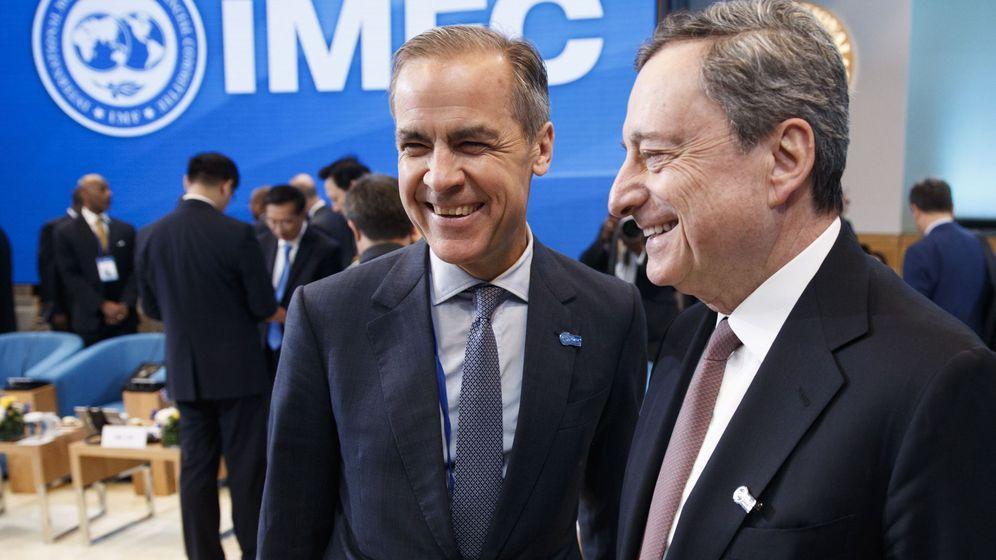 Foto: El presidente del BCE, Mario Draghi, jutno a Mark Carney, gobernador del Banco de Inglaterra. (Reuters)