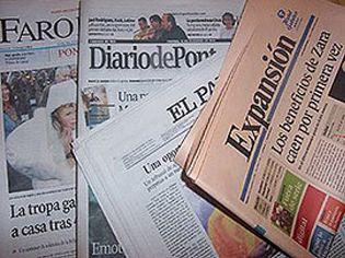 Foto: Los diarios salmón se desploman un 22% con respecto a 2009