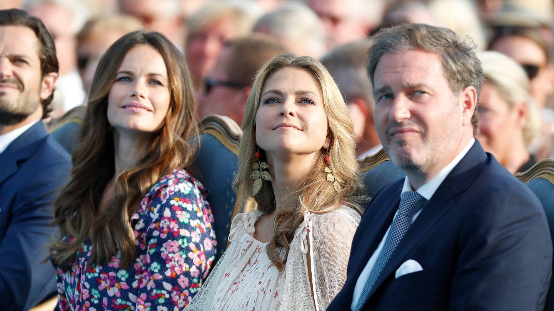 Carlos Felipe, Sofía, Magdalena y Chris O'Neill, en el cumpleaños de la princesa Victoria. (Getty)