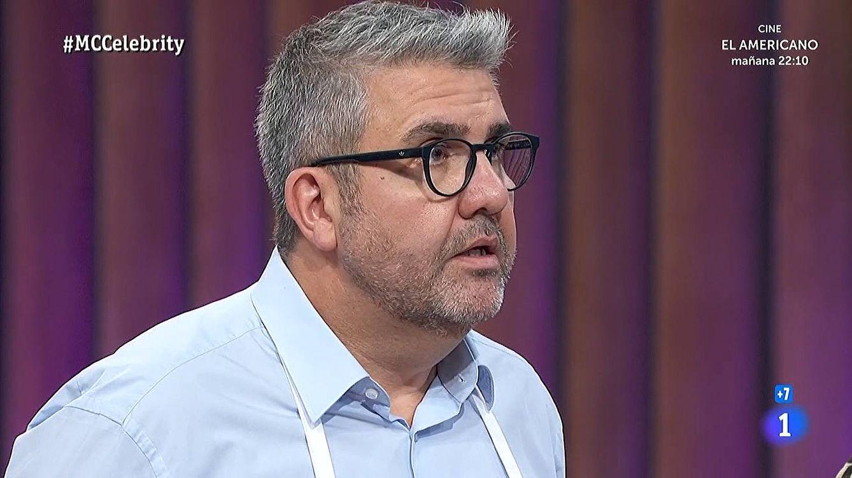 El chef David Muñoz pone la cara colorada a Florentino Fernández en la final de 'Masterchef Celebrity'