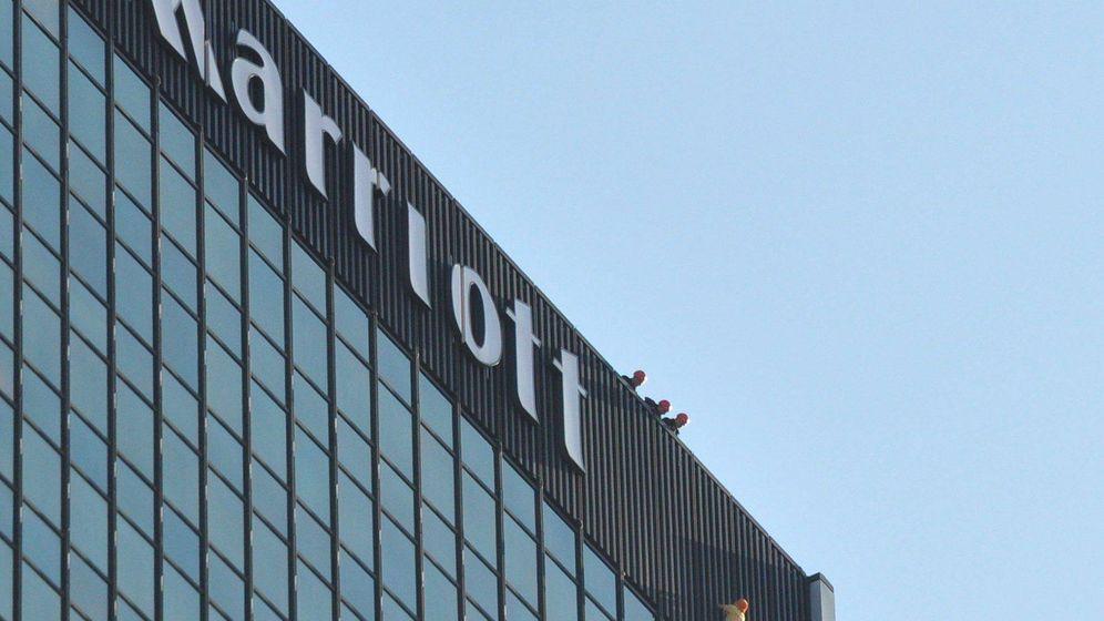 Foto: Fachada Hotel Marriott Polonia (Efe)