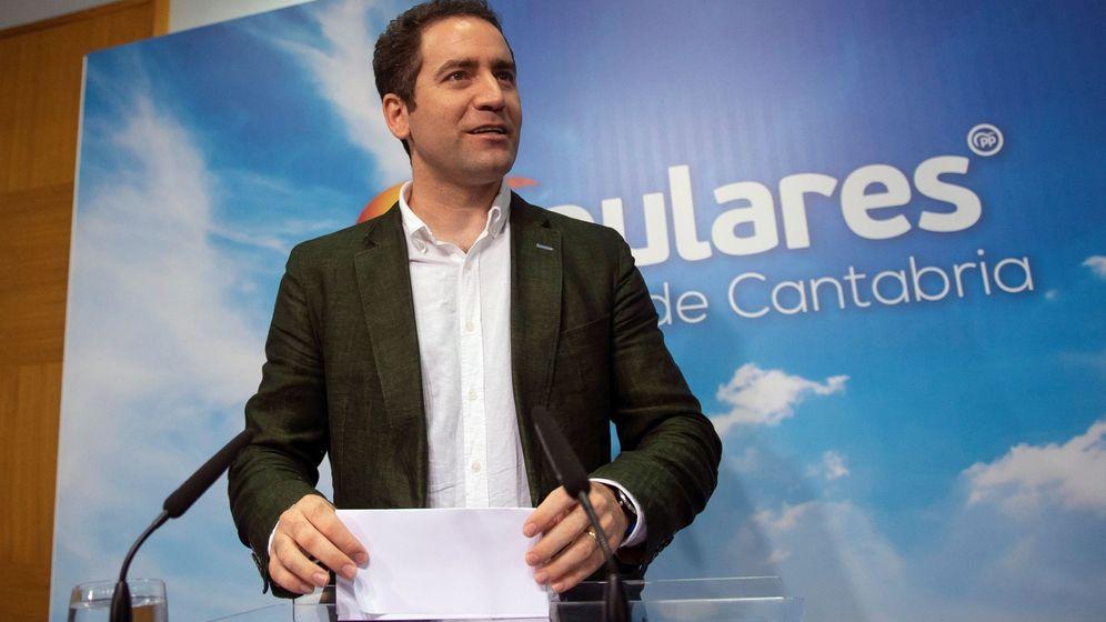 Foto: El secretario general del Partido Popular, Teodoro García Egea, hoy en Santander (Cantabria). (EFE)
