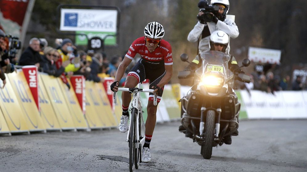 Foto: Contador se quedó a nada de la victoria (Sebastien Nogier/EFE/EPA).