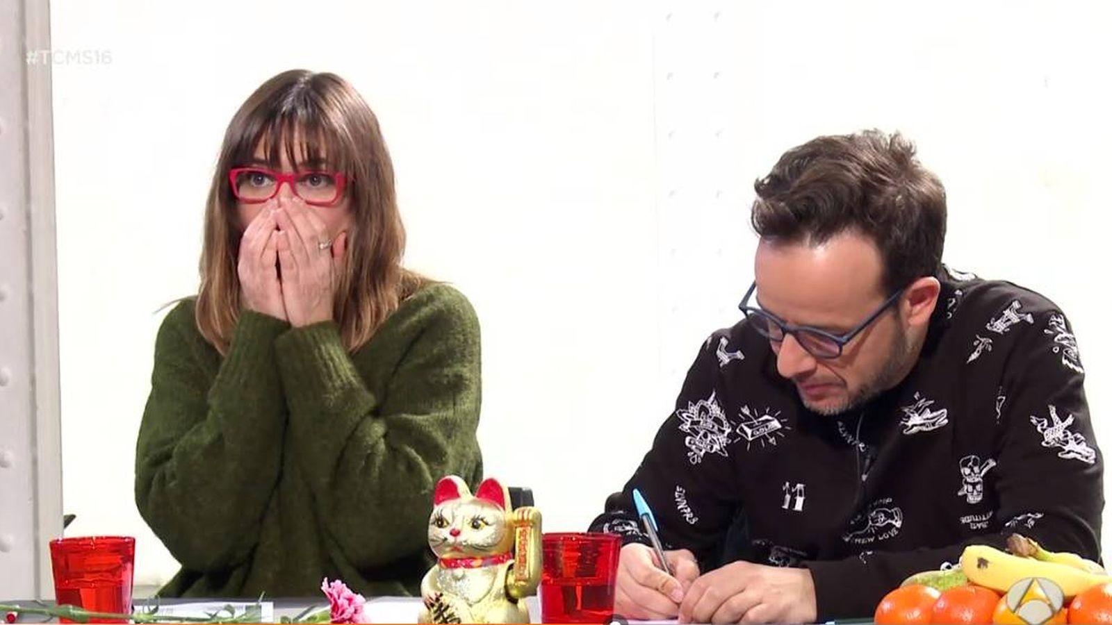 Foto: Noemí Galera y Àngel Llàcer en el casting de 'Tu cara no me suena todavía'