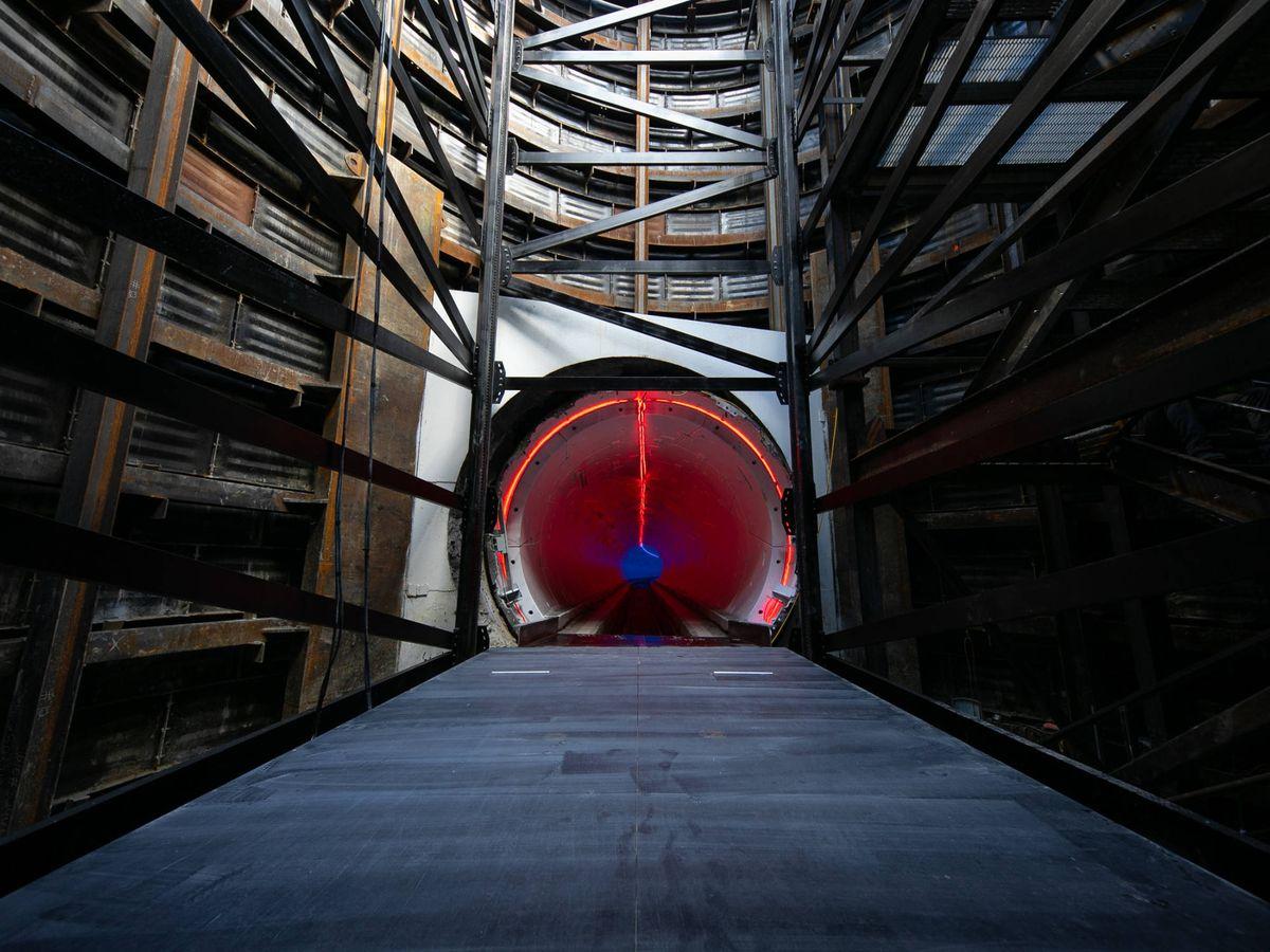 Foto: Foto del túnel de prueba construido en Los Ángeles. (TBC)