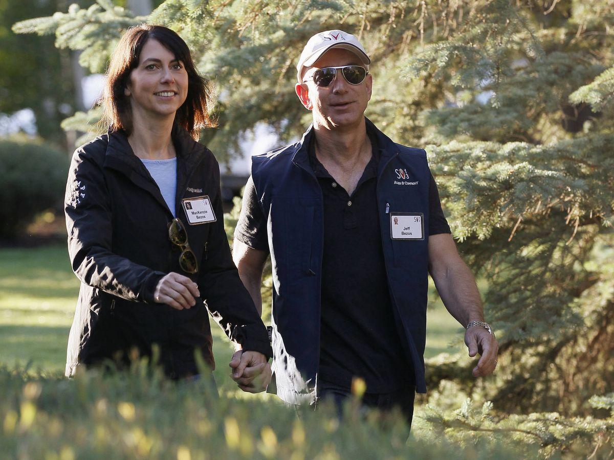 Foto: MacKenzie Scott, cuando todavía estaba casada con Jeff Bezos