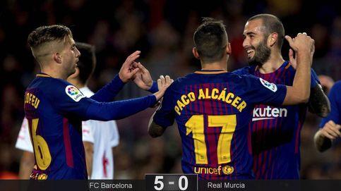 A igualdad de esfuerzos nulos el Barça gana por aplastamiento al Murcia