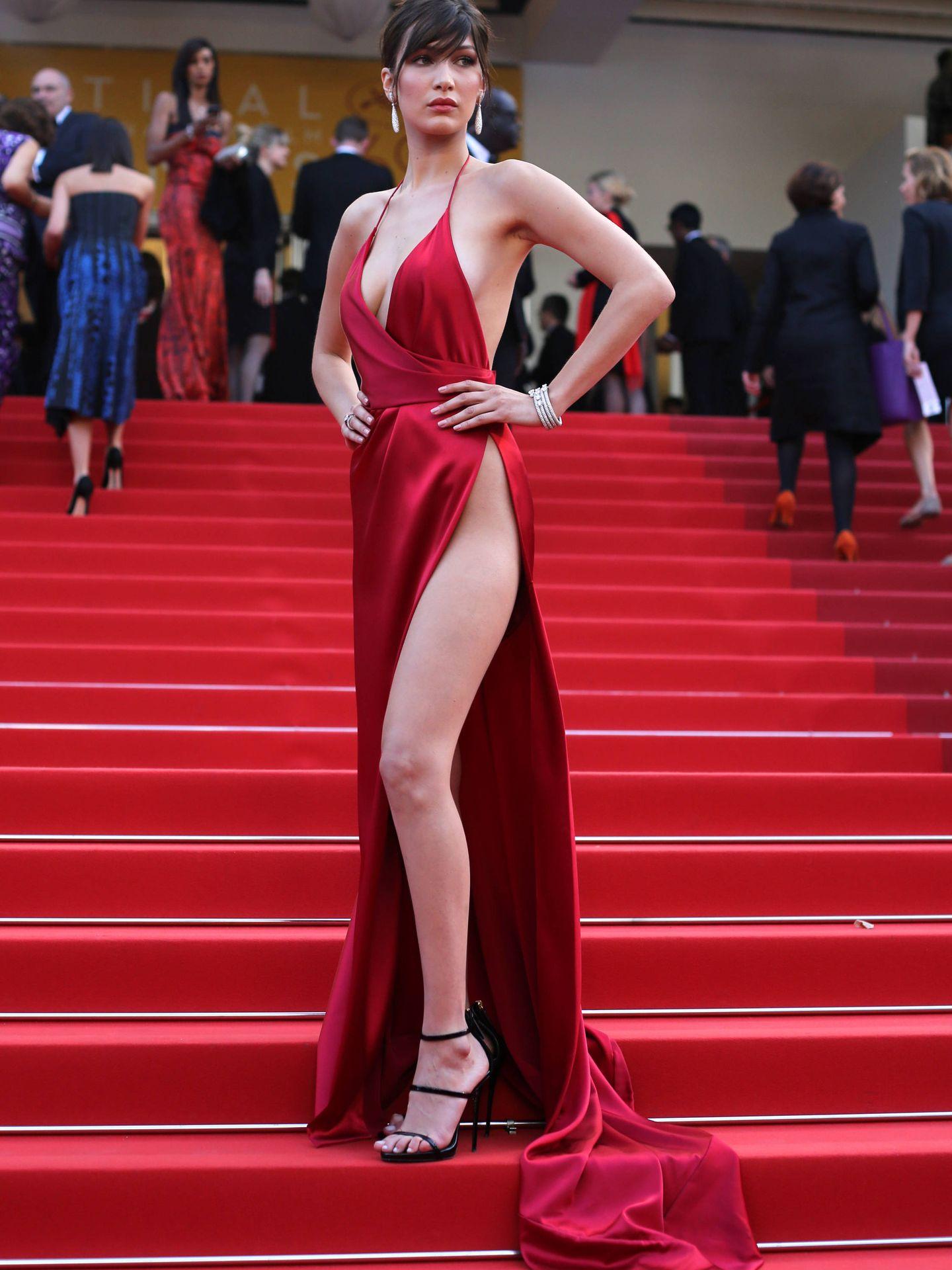 Bella Hadid, en el Festival de Cannes del 2016. (Reuters)