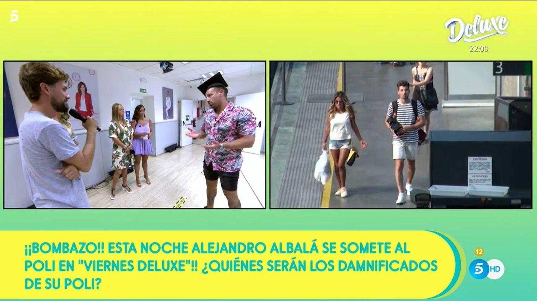 Alejandro Albalá y Anabel Pantoja, en 'Sálvame'. (Mediaset)