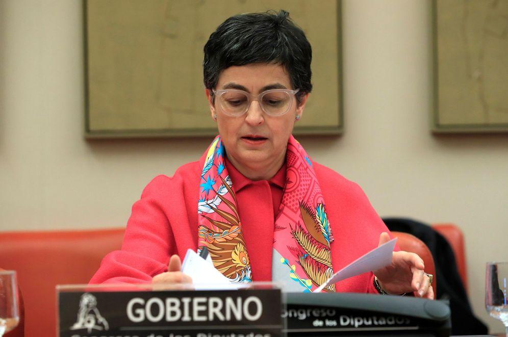 Foto: González Laya ante la Comisión de Asuntos Exteriores. (EFE)