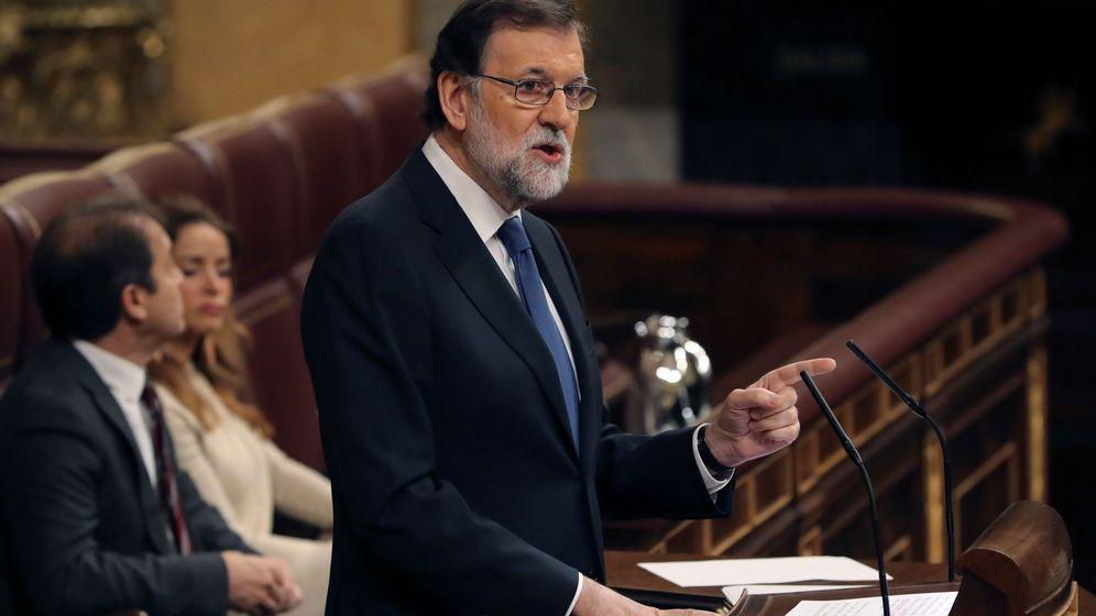 Foto: Mariano Rajoy, durante su intervención. (EFE)