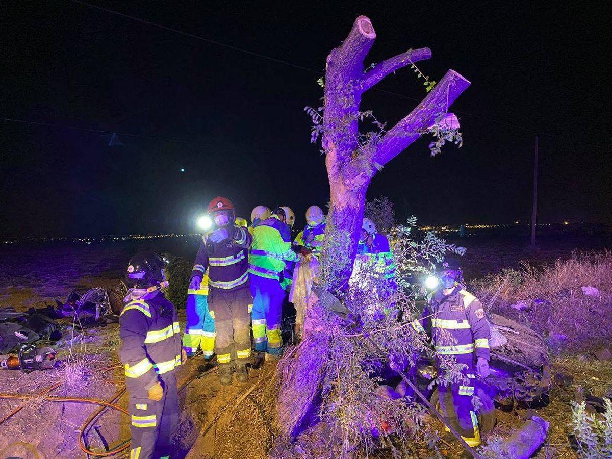 Foto: Accidente en Móstoles. (112 Comunidad de Madrid)