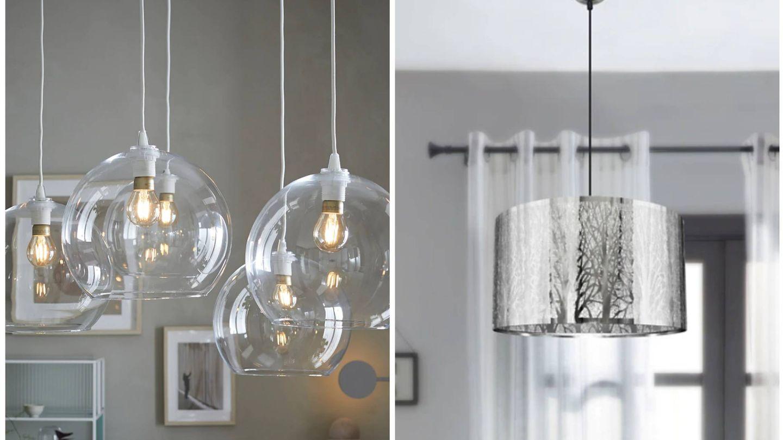 Lámparas de Ikea y Leroy Merlín. (Cortesía)