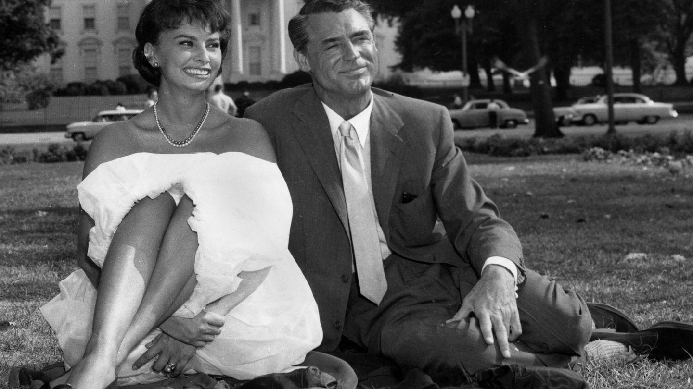 Loren y Grant, en 1958. (Cordon Press)
