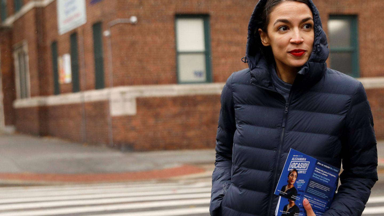 Alexandria Ocasio-Cortez, durante un mitin en Nueva York. (Reuters)