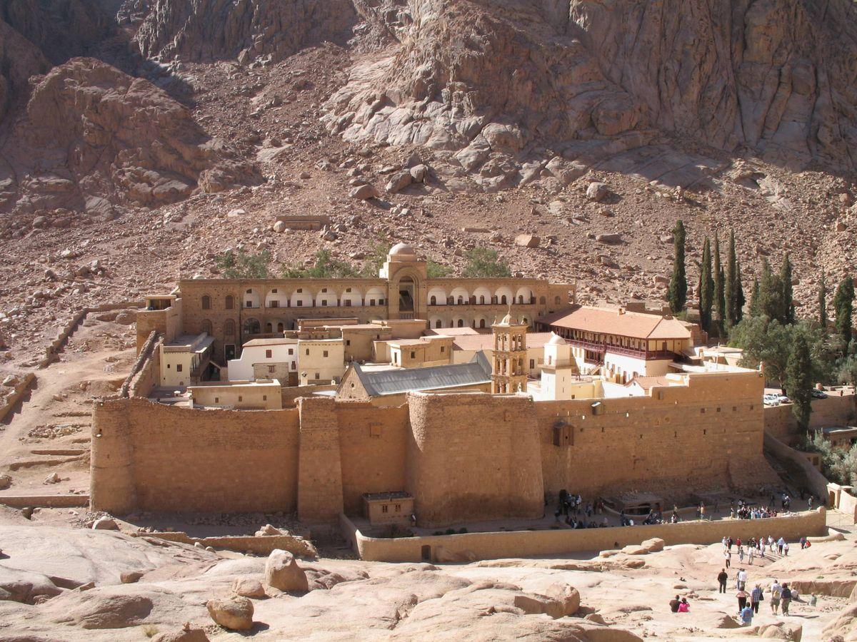 Foto: Monasterio en honor a Santa Catalina de Alejandría sito en el monte Sinaí.
