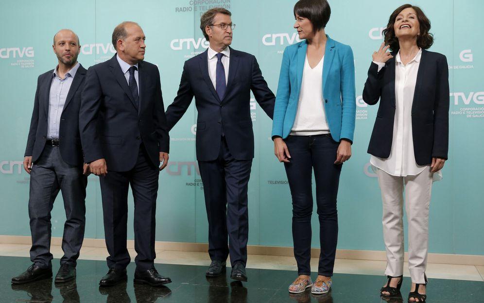 Foto: Debate a cinco candidatos a la presidencia de la Xunta. (EFE)