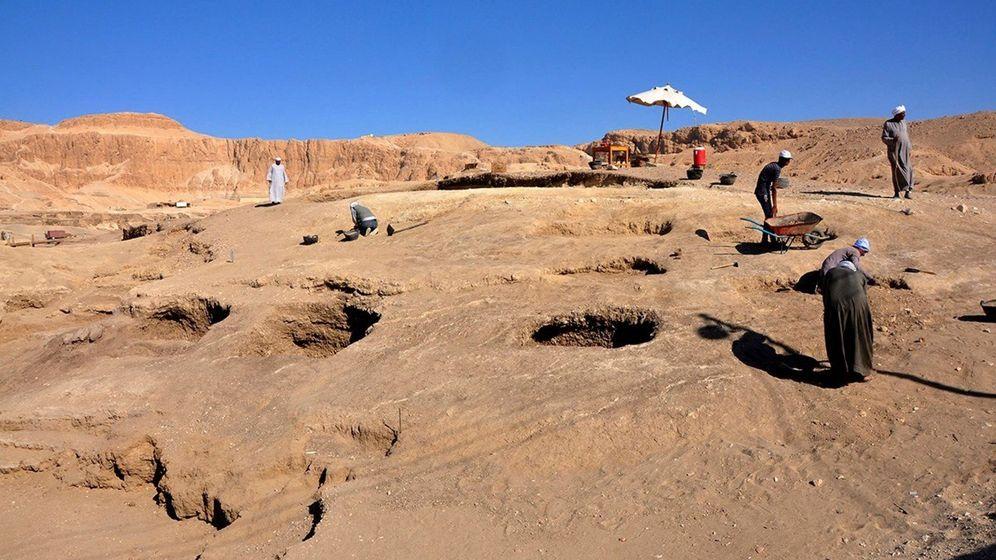 Foto: Excavaciones en Egipto. (EFE)