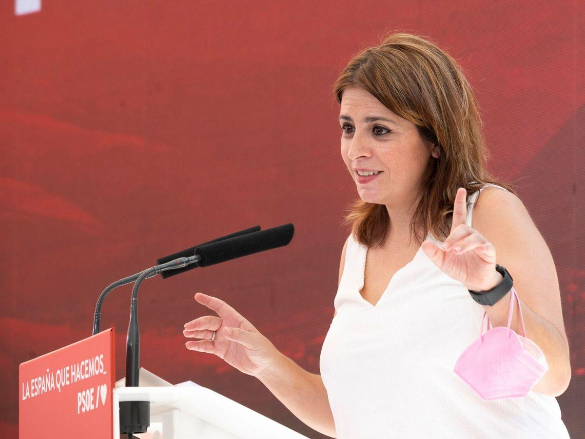 Foto: La vicesecretaria general del Partido Socialista, Adriana Lastra. (EFE)