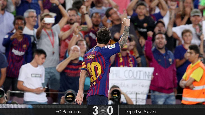 Messi es la brújula del Barcelona