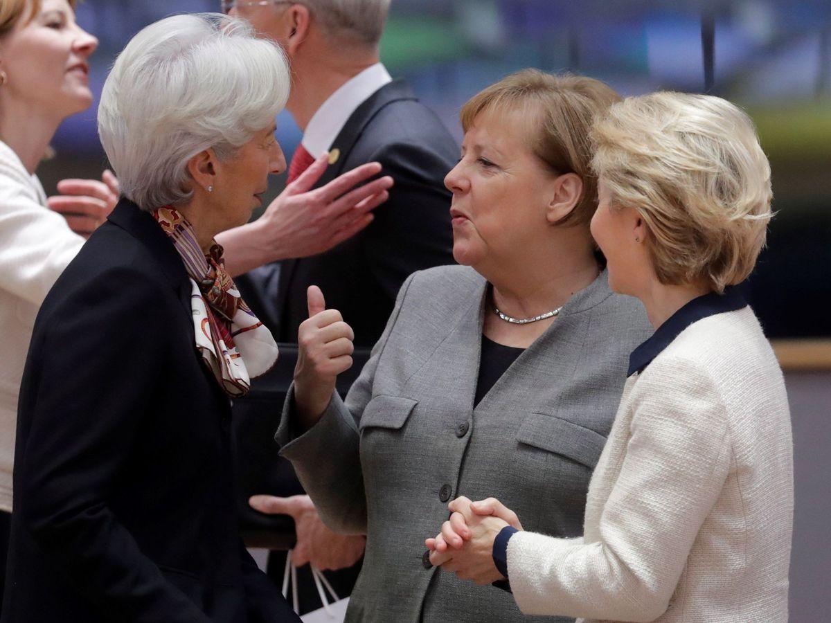 Foto: Angela Merkel, Ursula Von der Leyen y Christine Lagarde. (Reuters)