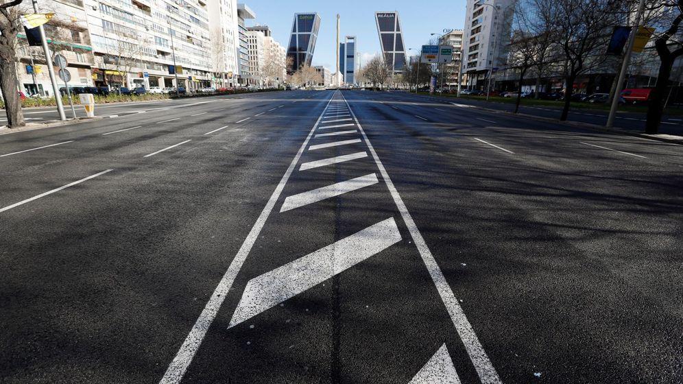 Foto: Calles de Madrid vacías en Viernes Santo, en una foto de archivo. (EFE)