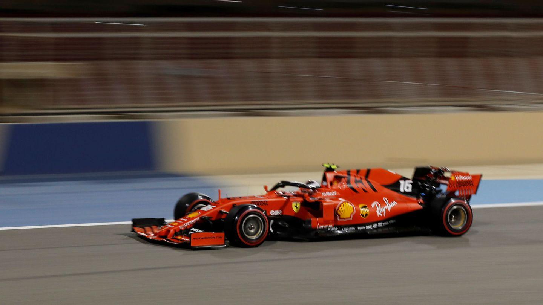 Leclerc, durante la sesión de clasificación en Bahréin. (Reuters)