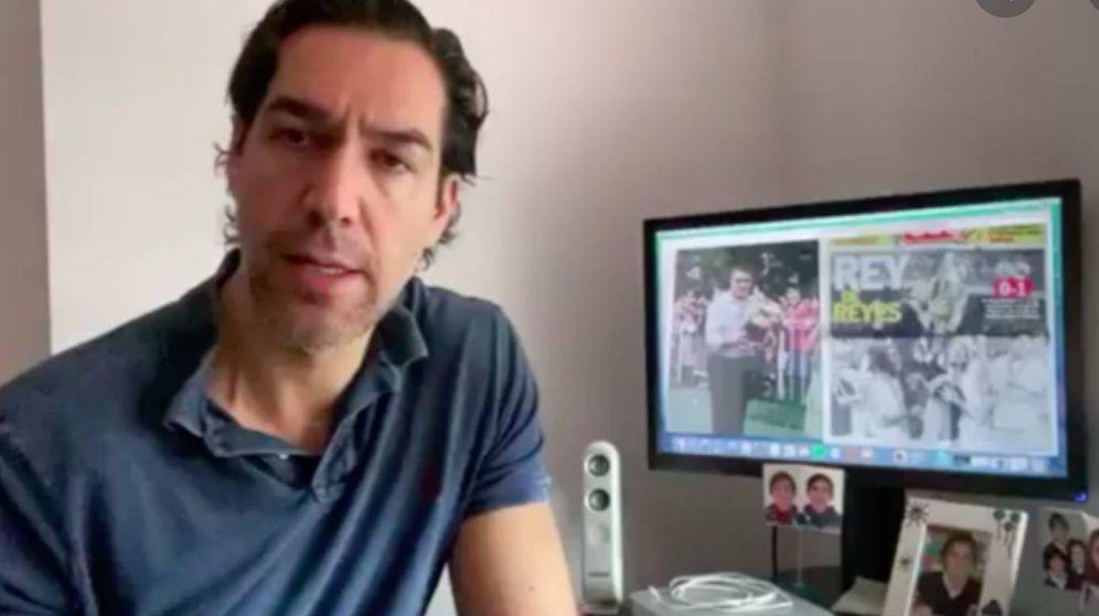 Foto: Lorenzo Sanz hijo en una intervención en un programa de televisión.