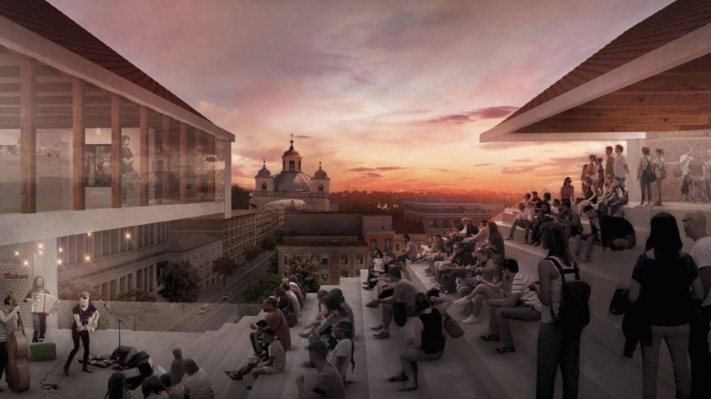 Foto: Simulación de cómo será el museo Mahou elaborada por el arquitecto Héctor Fernández Elorza, ganador del concurso de ideas de COAM. (Foto: COAM)