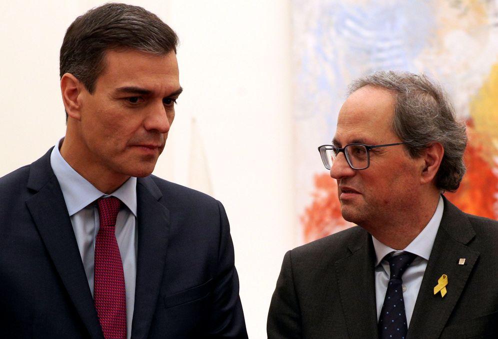 Foto: Pedro Sánchez y Quim Torra después de su reunión en Pedralbes. (Reuters)