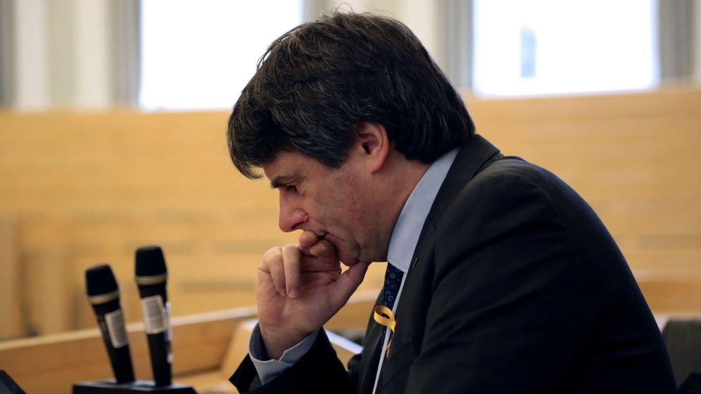Foto: Puigdemont, durante su conferencia en Helsinki. (EFE)