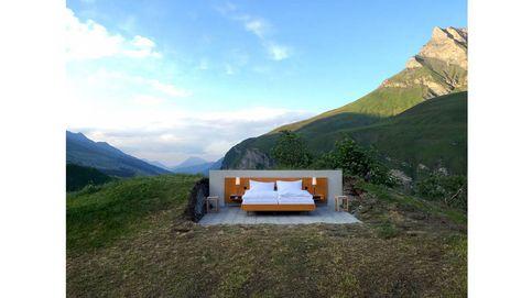 Desconecta de lo lindo en un hotel sin paredes ni techo en los Alpes suizos