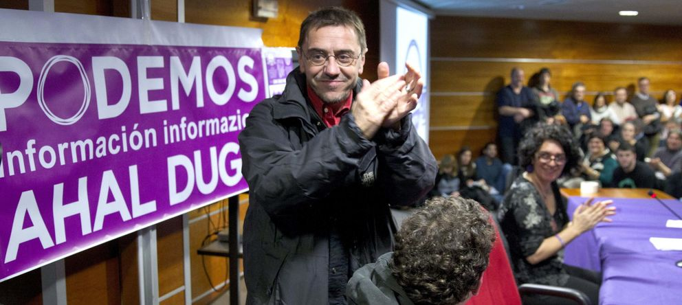 Foto: Juan Carlos Monedero, número dos de Podemos (EFE)