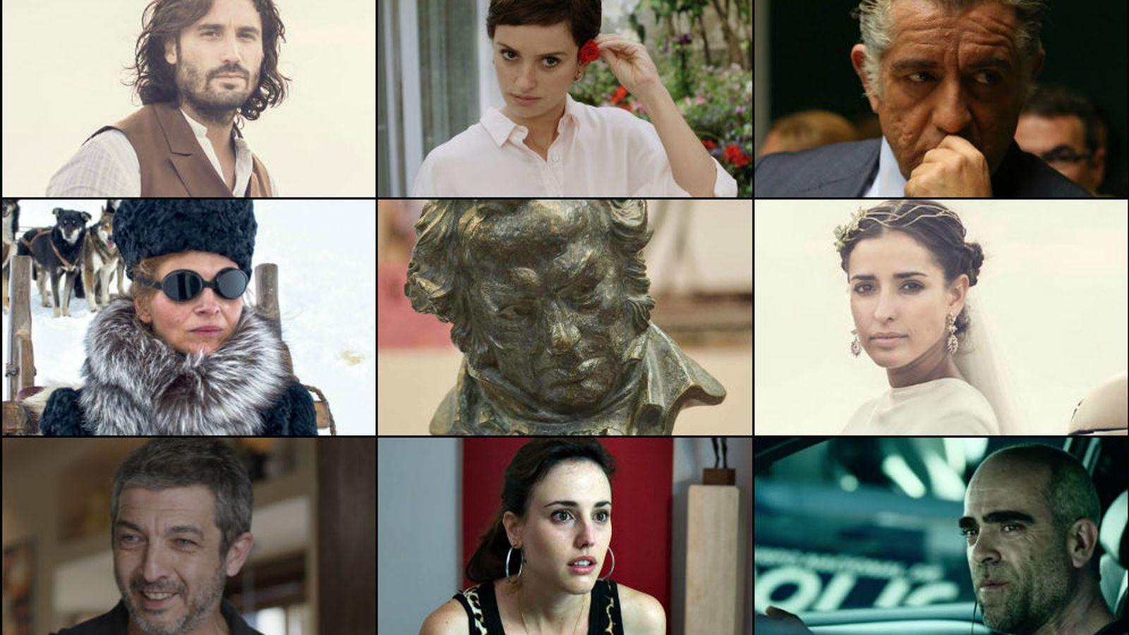 Foto: Los nominados al Goya