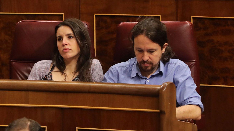 Irene Montero y Pablo Iglesias. (Efe)