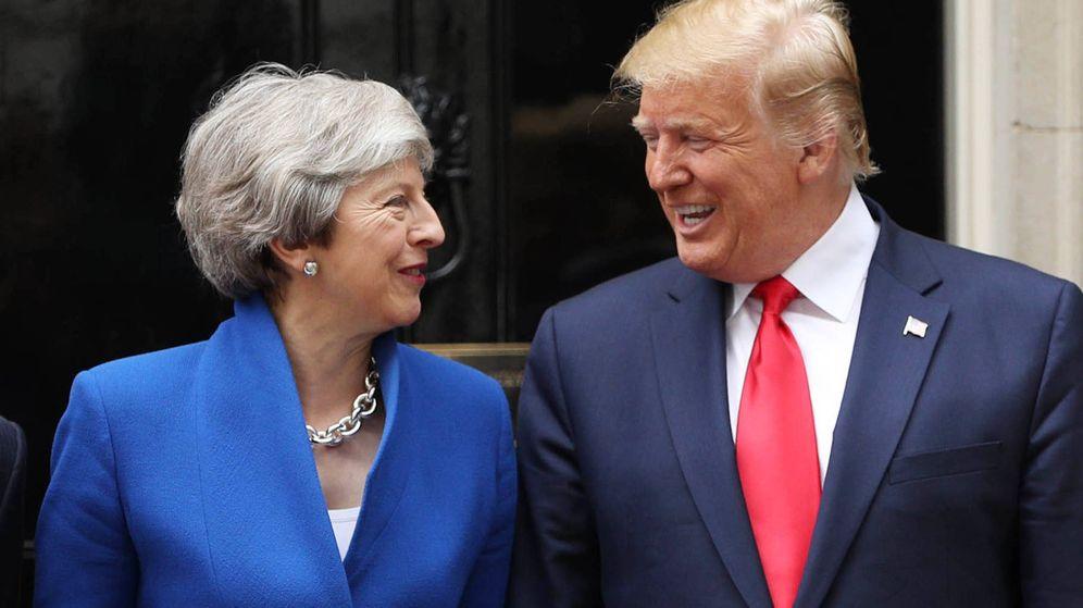Foto:  Theresa May junto a Donald Trump. (Getty)