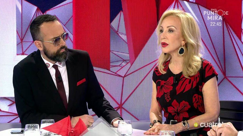 Risto con Carmen Lomana. (Mediaset)