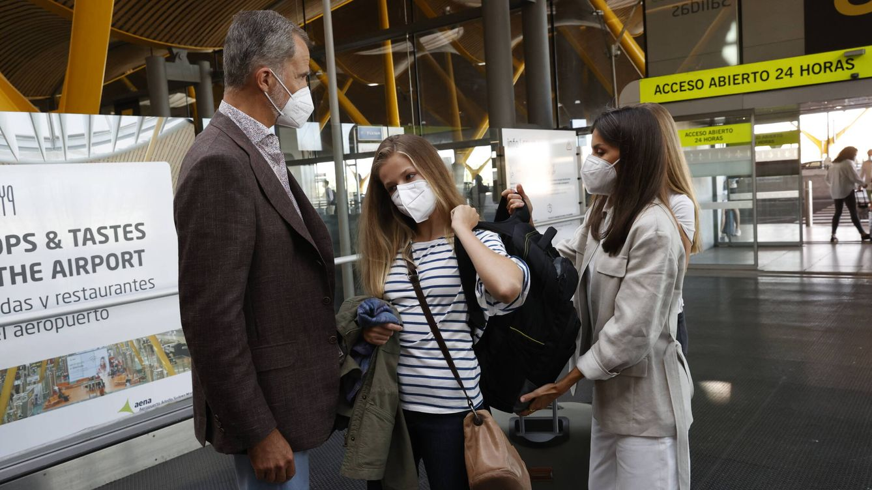 Qué han tenido en común (y qué no) las fotos de Leonor, Alexia y Christian en su marcha al internado
