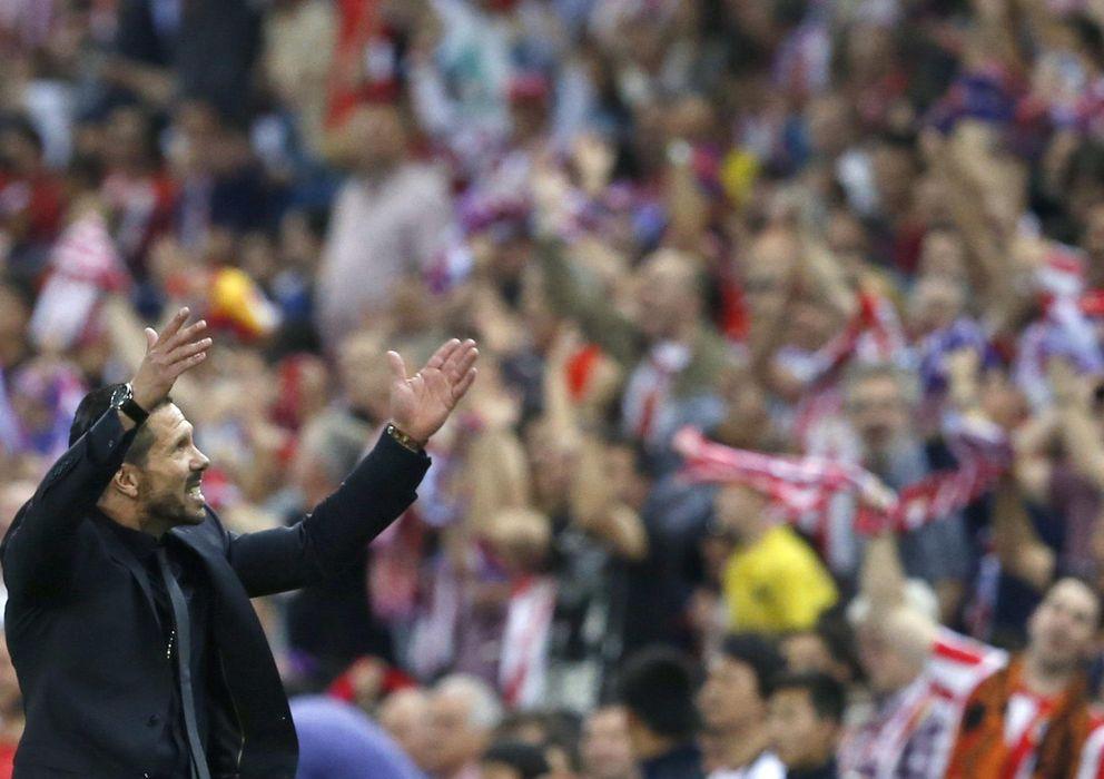 Foto: Simeone, durante un partido de la pasada temporada (EFE)