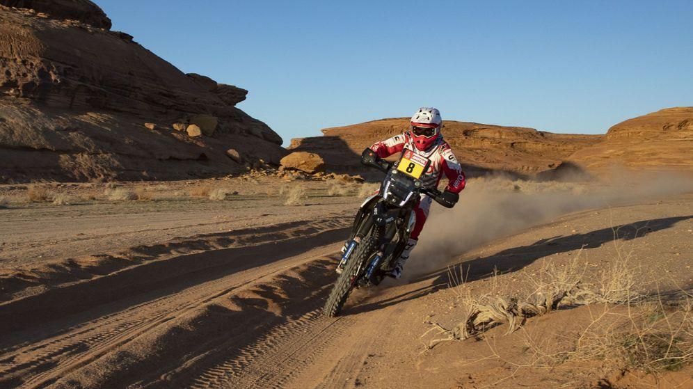 Foto: Imagen de Paulo Gonçalves en la quinta etapa del Dakar 2020. (EFE)