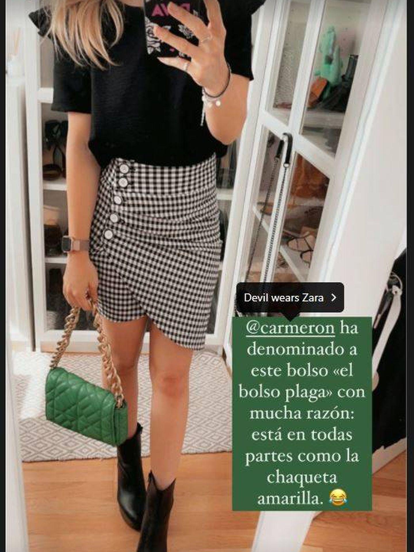 La Vecina Rubia triunfa con el bolso plaga de Zara. (Instagram, @lavecinarubia)