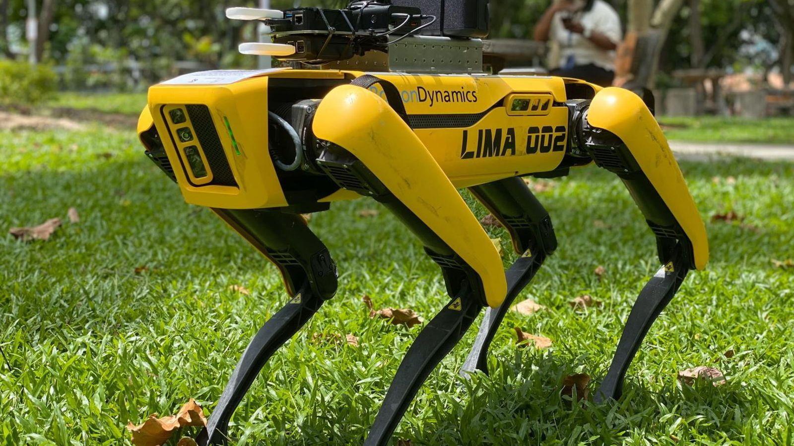 Social: El terrorífico perro-robot que utiliza Singapur para ...
