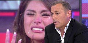 Post de Carlos Lozano y Hugo Castejón, a gritos en Telecinco por Miriam Saavedra