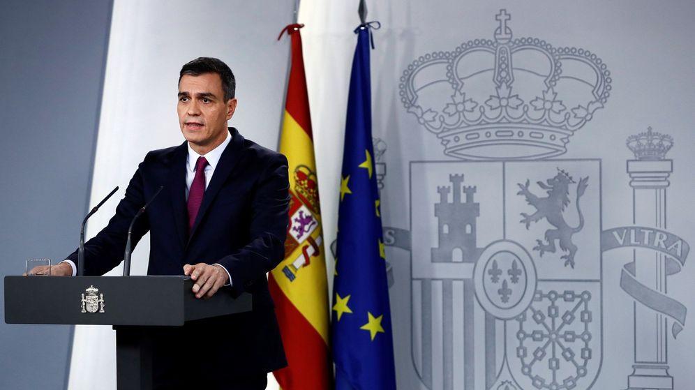 Foto: Rueda de prensa de Pedro Sánchez. (EFE)