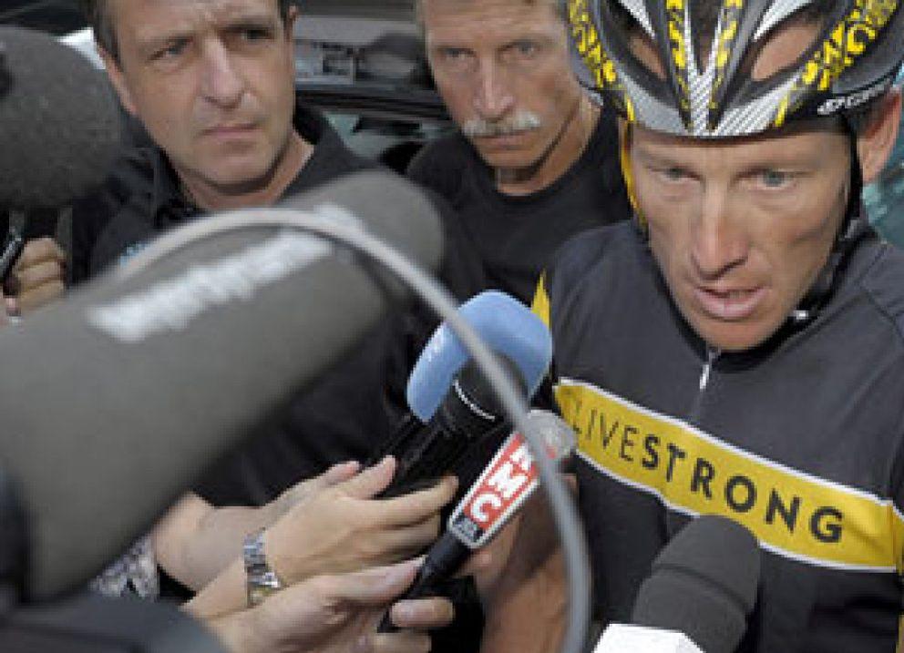 """Foto: Armstrong: """"Si Contador es el más fuerte, me sacrificaré por él"""""""