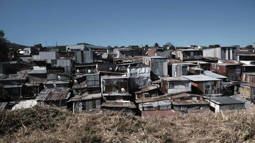 Foto: Imagen de archivo de una barriada en Costa Rica. (EFE)