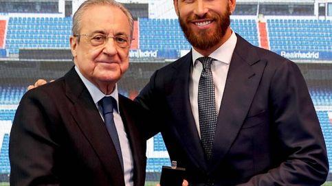 Sergio Ramos rompe a llorar en un acto de despedida pactado con Florentino: Volveré